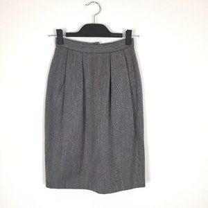 Vintage 100% Pure Wool Grey Classic Skirt